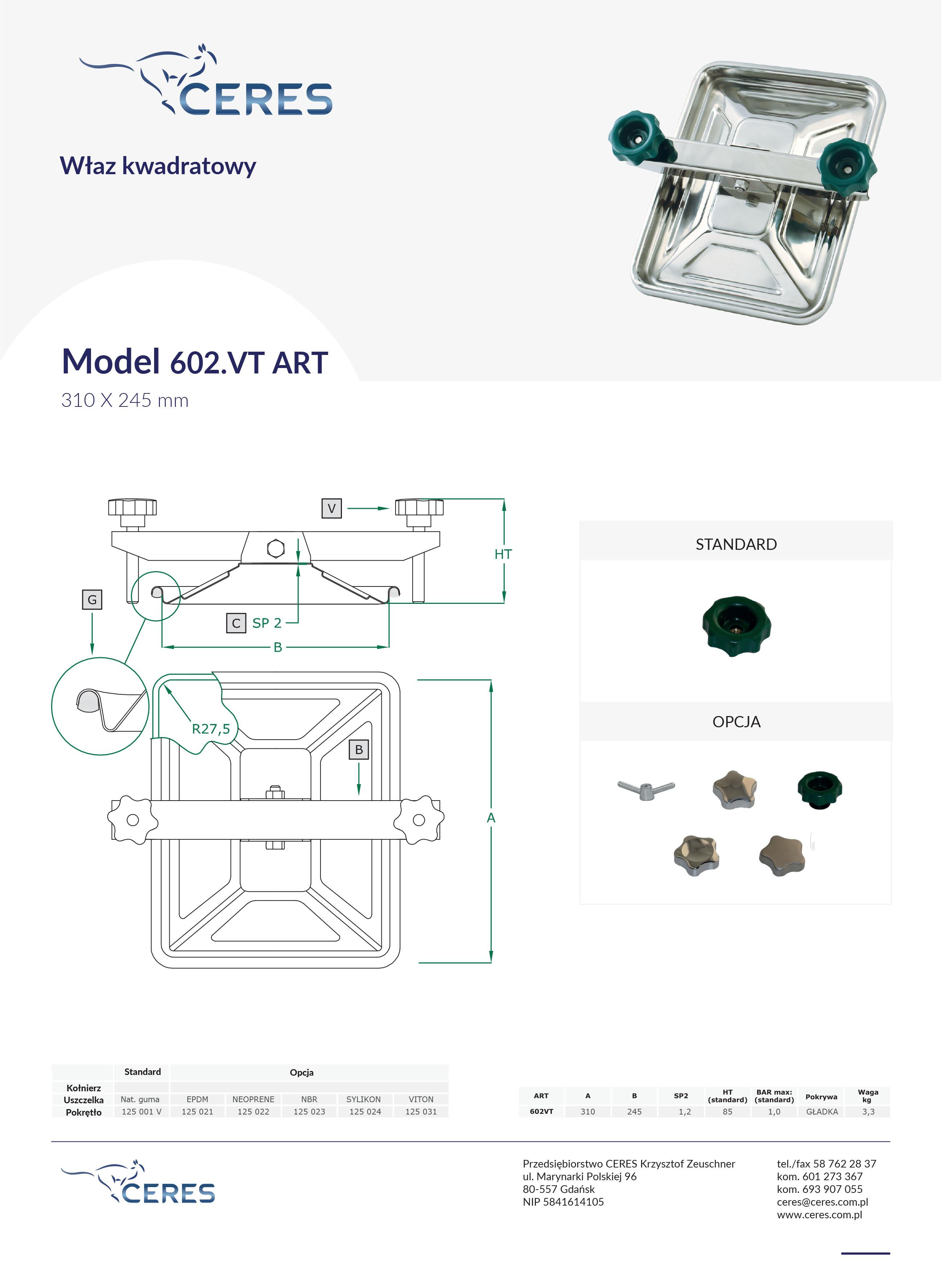 Model 602vtart