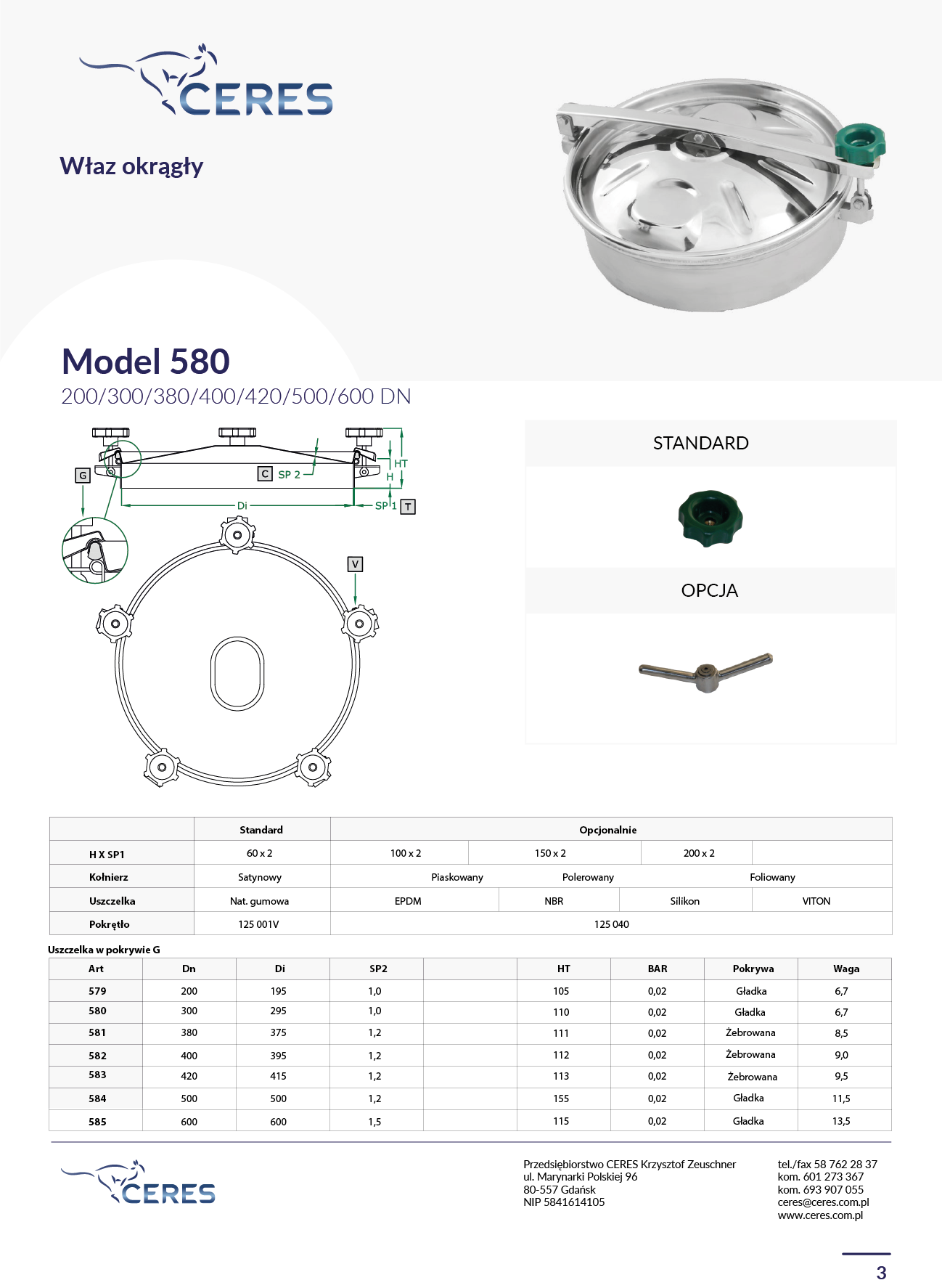 MODEL 580