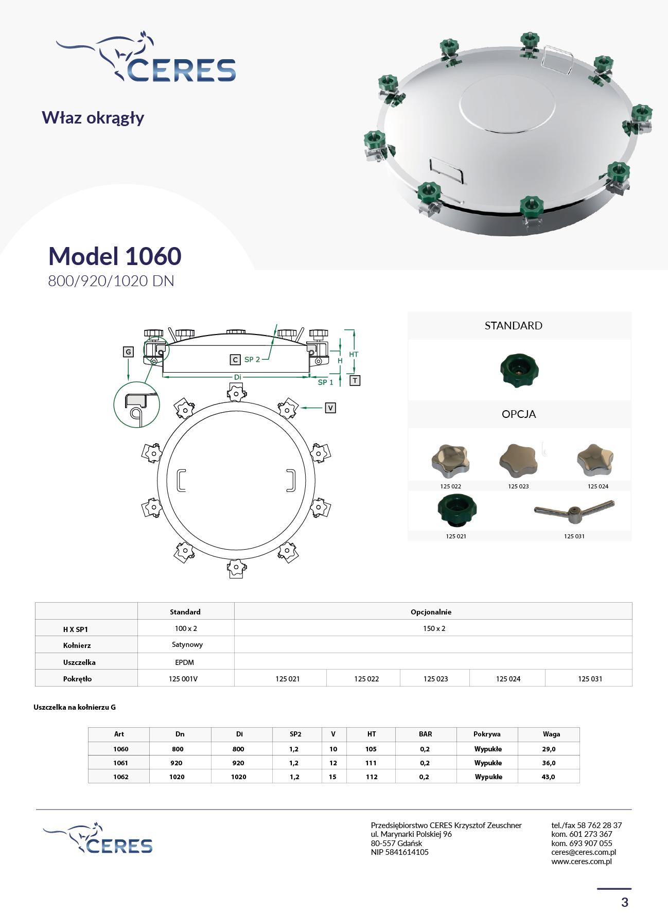 MODEL 1060