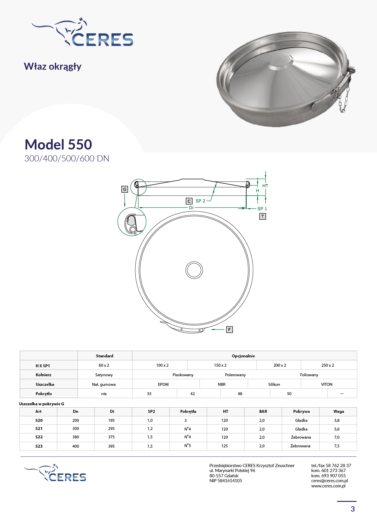 MODEL 550