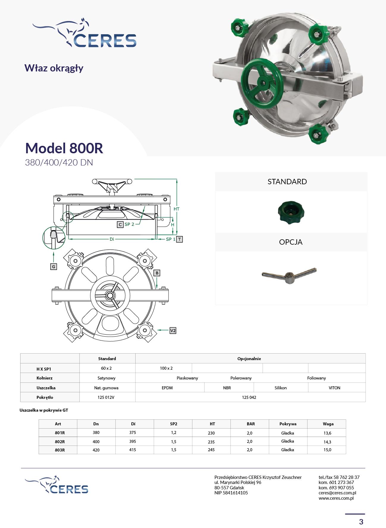 MODEL 800R