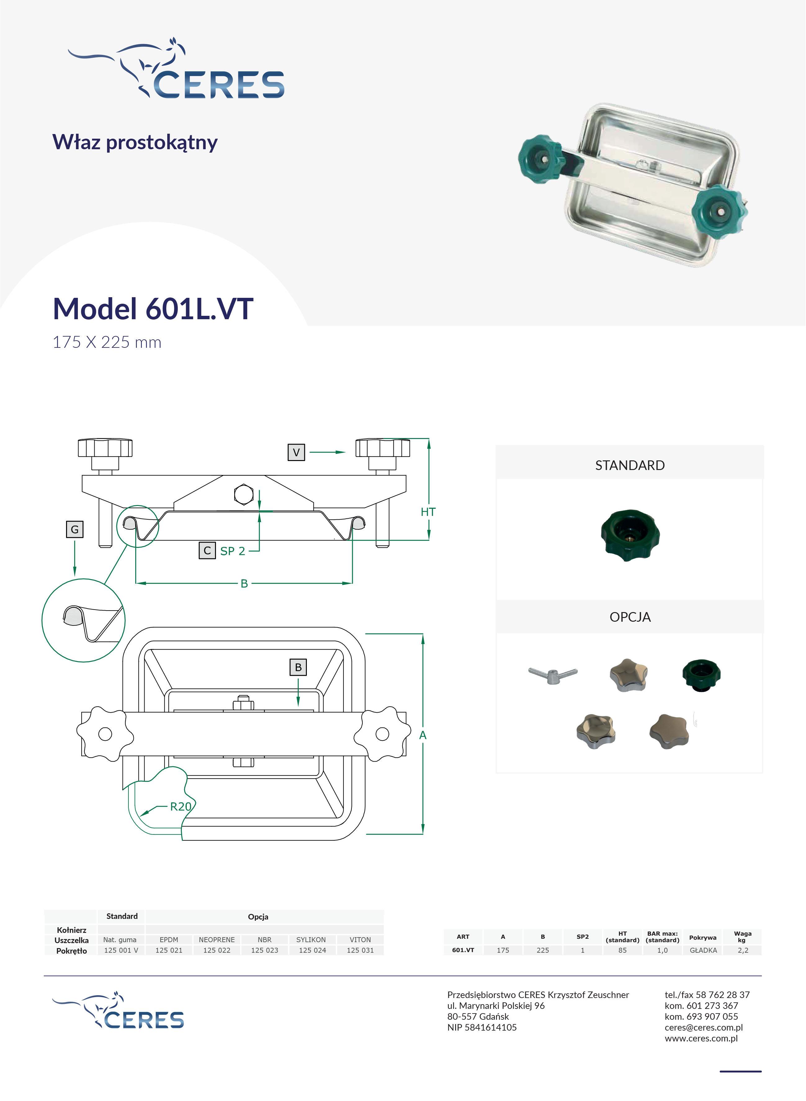 Model 601LVT
